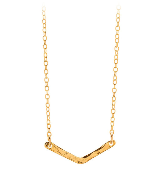 Taner V Charm Necklace