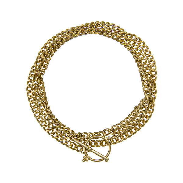 THE HAPUR WRAP CHAIN - ANTIQUE GOLD
