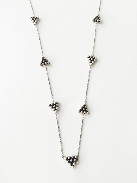 CERRO TORRE PYRAMIDS STATION LONG NECKLACE - SILVER