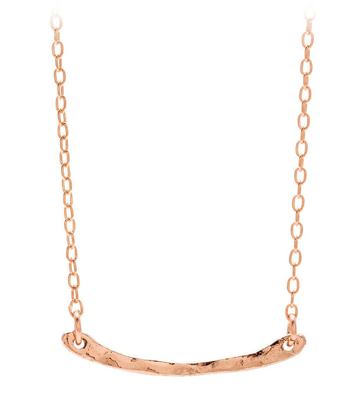 Taner Bar Mini Necklace - Rose Gold