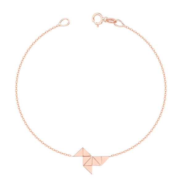 The Origami Bracelet (Instock) ROSE GOLD