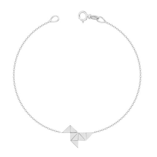 The Origami Bracelet (Instock) WHITE GOLD