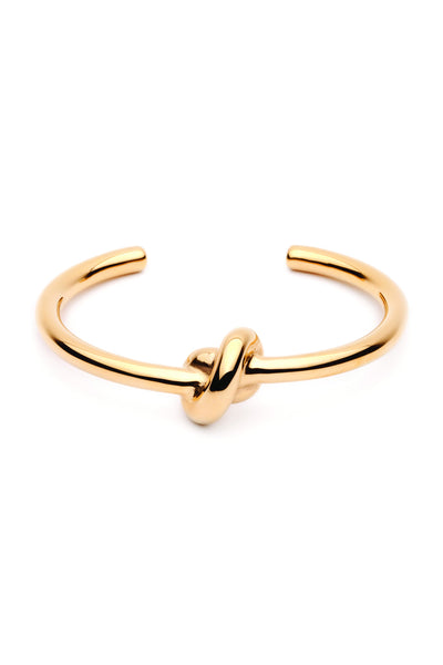 (PRE-ORDER) Tie The Knot Bangle - Gold