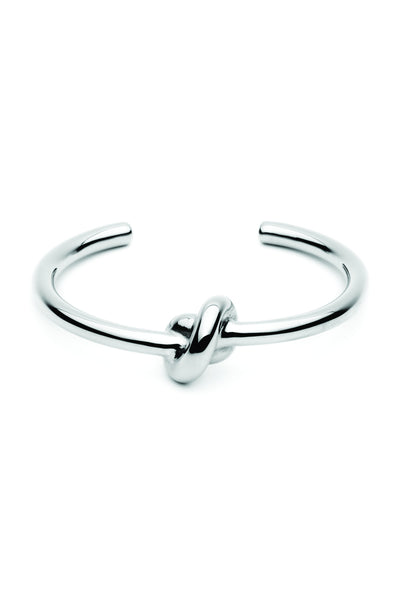 Tie The Knot Bangle - Silver