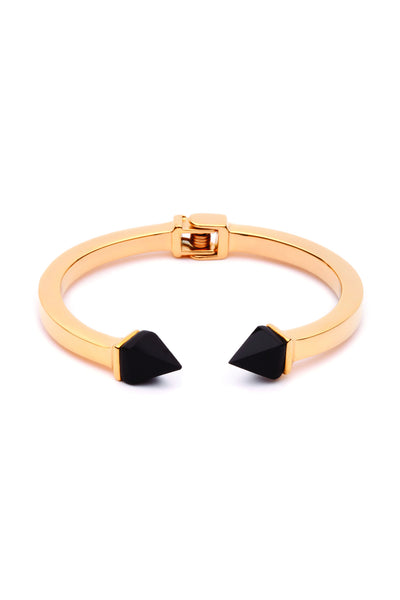 (PRE-ORDER) Tilly Bangle - Gold with Black Onyx