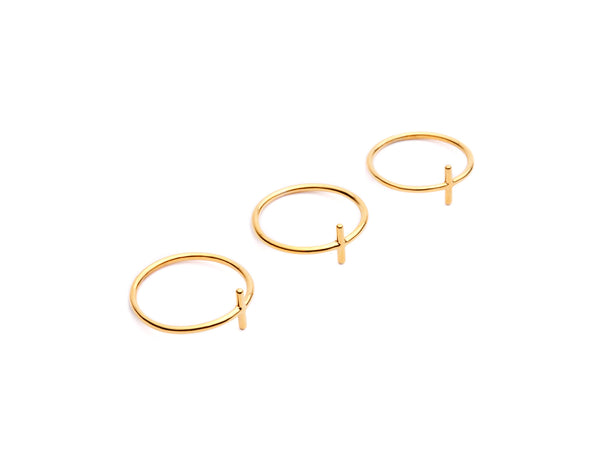 (PRE-ORDER) Trace Rings - Gold