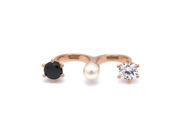 (PRE-ORDER) TRIO CROWN DBL FINGER RING