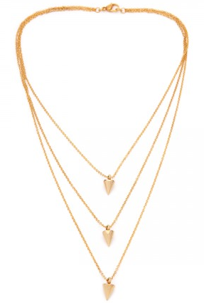 (PRE-ORDER) Triple Cone Necklace - Yellow Gold