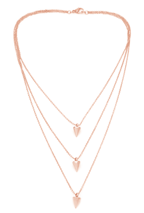 (PRE-ORDER) Triple Cone Necklace - Rose Gold