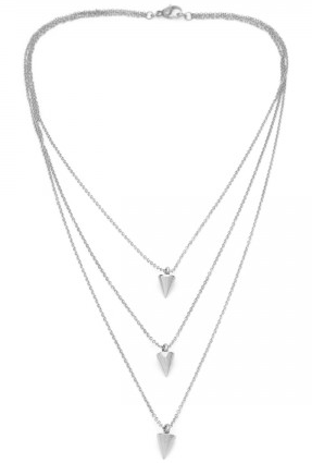 (PRE-ORDER) Triple Cone Necklace - Silver