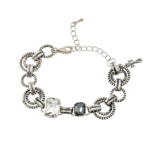 MINI CHROME CROSS CHARM BRACELET