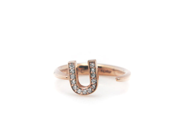 (PRE-ORDER) 'U' LETTER KNUCKLE OPEN RING