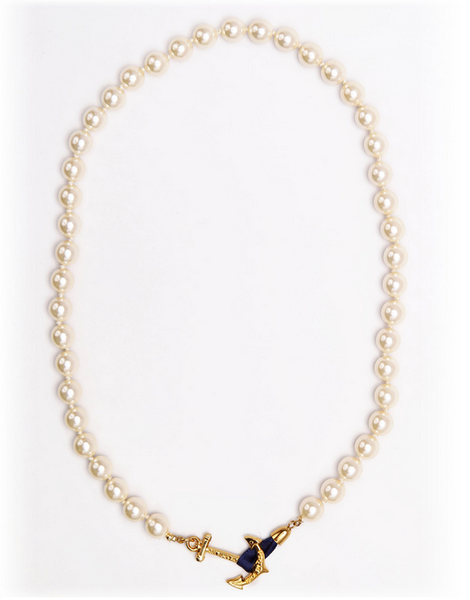 (PRE-ORDER) Pearl Collection - Valerie Pearl Anchor Necklace