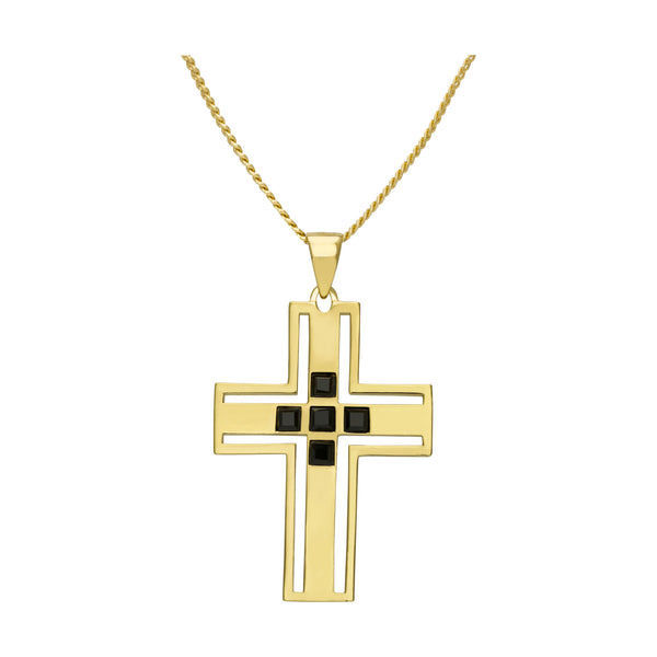 (PRE-ORDER) VIVIENNE CROSS NECKLACE - YELLOW GOLD