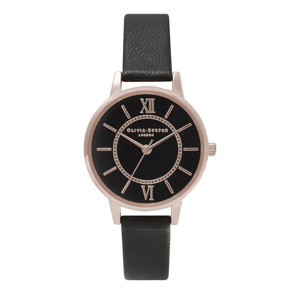 MIDI WONDERLAND BLACK DIAL AND ROSE GOLD