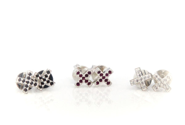 (PRE-ORDER) XX PAVE STUD EARRINGS