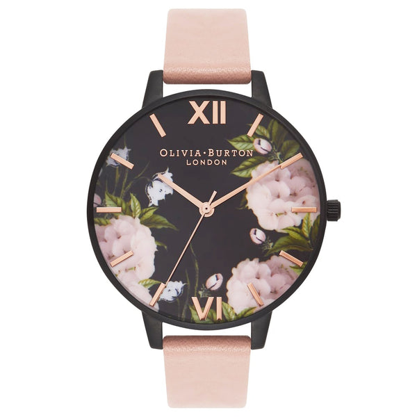 AFTER DARK FLORAL & DUSTY PINK STRAP