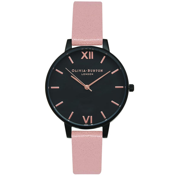 AFTER DARK IP MIDI BLACK DIAL & DUSTY ROSE STRAP