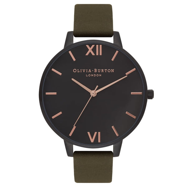 AFTER DARK IP BLACK DIAL & KHAKI STRAP