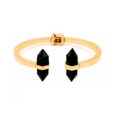 (PRE-ORDER) Angelica Bangle - Black Onyx