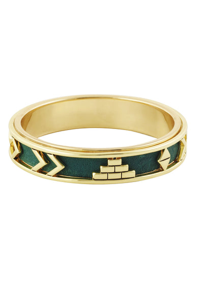 AZTEC BANGLE - FOREST GREEN