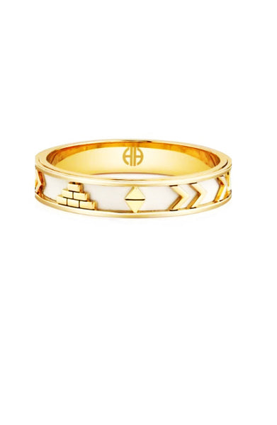 AZTEC BANGLE - WHITE