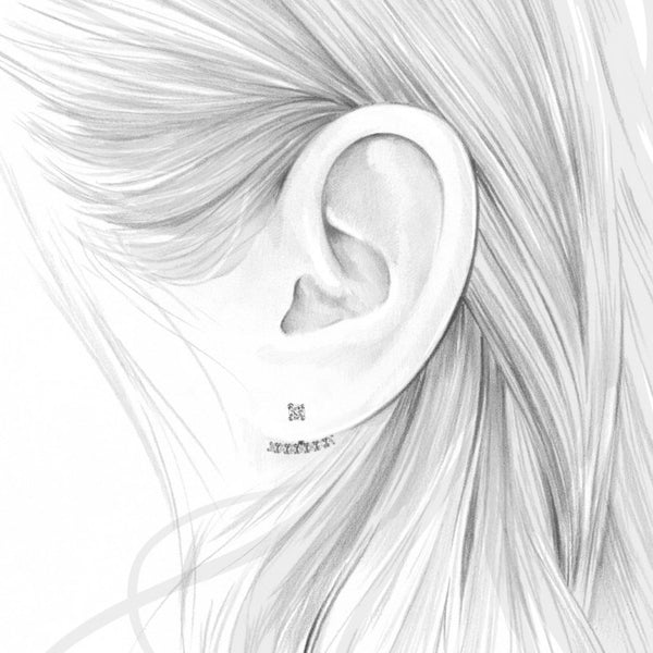 AZURE EAR JACKETS - SILVER