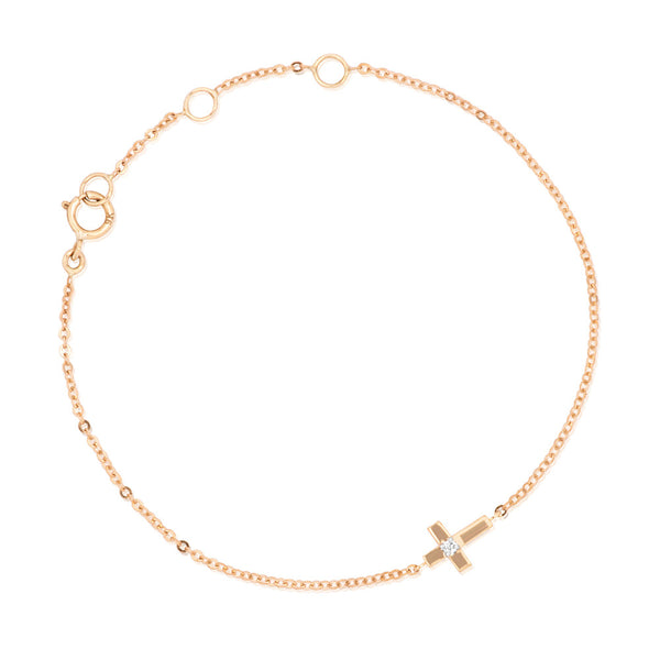 (PRE-ORDER) BAMBINO DIAMONDS CROSS BRACELET
