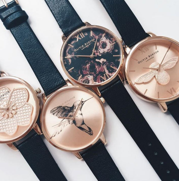 BIG DIAL MOULED BEE ROSE GOLD DIAL AND BLACK