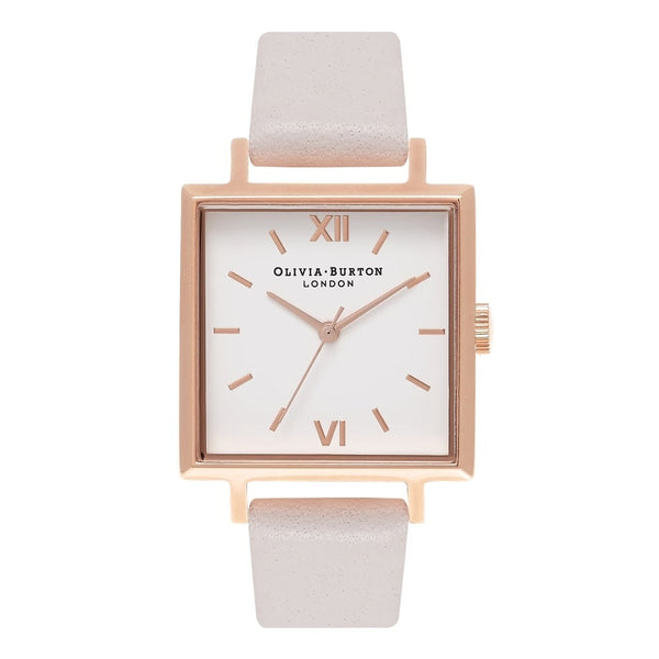 Big Square Dial Blush & Rose Gold