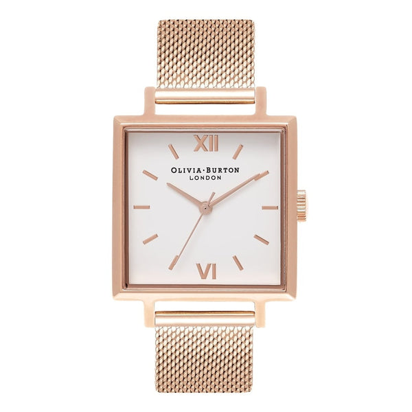 Big Square Dial Rose Gold Mesh (Display piece)