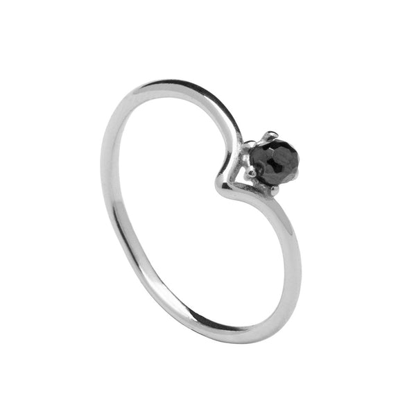 BLACK CAMBER SILVER RING