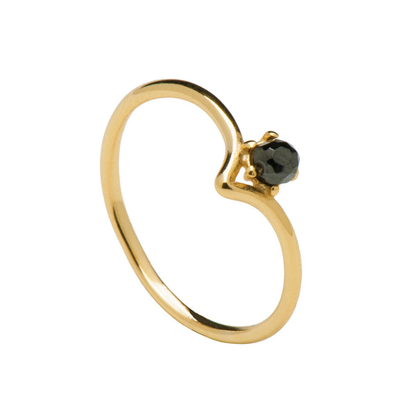 BLACK CAMBER GOLD RING