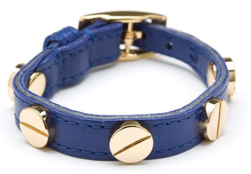 NAVY BLUE GOLD SCREW BRACELET