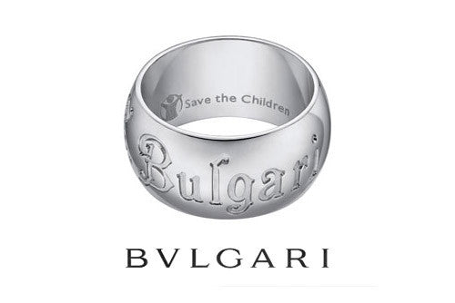 "BVLGARI ""SAVE THE CHILDREN"" SILVER RING"