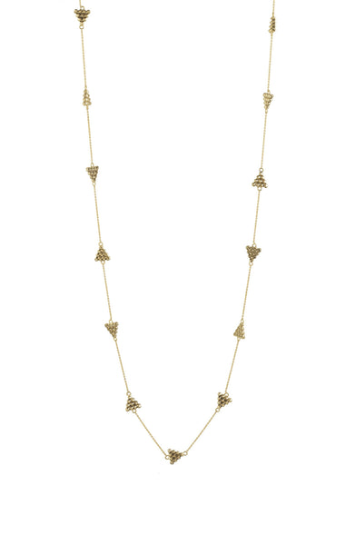 CERRO TORRE PYRAMIDS STATION LONG NECKLACE - GOLD