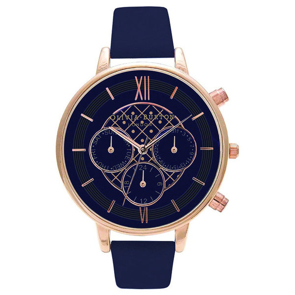 BIG DIAL CHRONO DETAIL NAVY AND ROSE GOLD