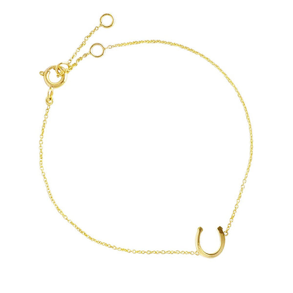 LUCKY CHARM HORSESHOE BRACELET YELLOW GOLD