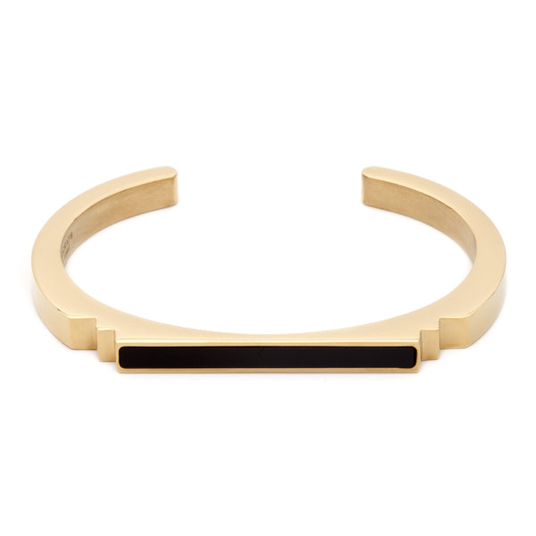 (PRE-ORDER) Deco Bangle - Onyx and Gold