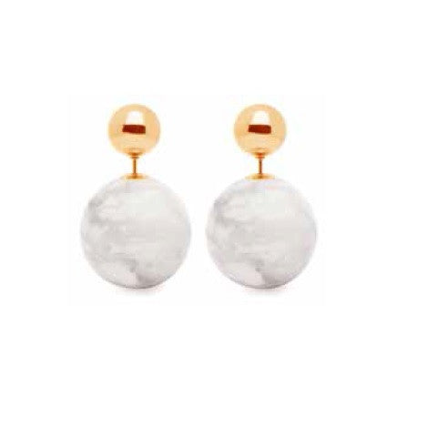 (PRE-ORDER) Eclipse Marble and Gold Studs