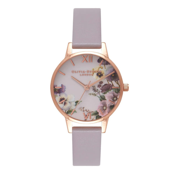 Begin to Blush - Midi Pansy Grey Lilac & Rose Gold