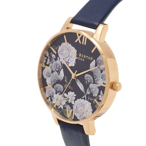 Enchanted Garden Midnight Navy Dial & Gold (Display)