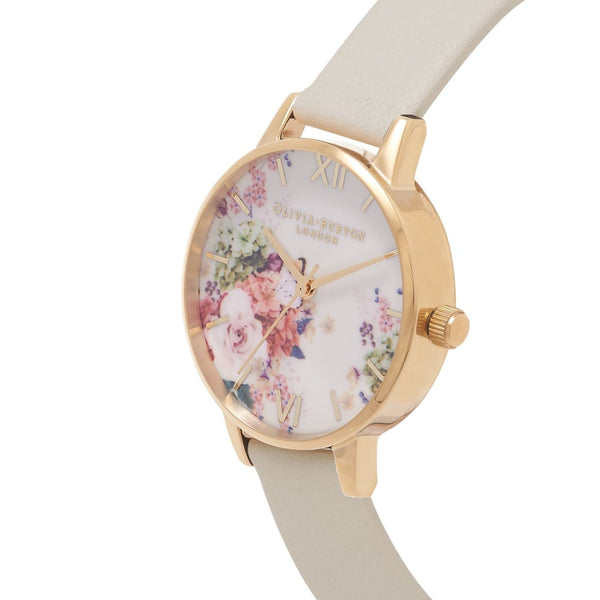 Midi Enchanted Garden Florals Nude & Gold