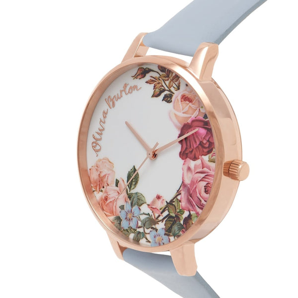 English Garden Chalk Blue & Rose Gold