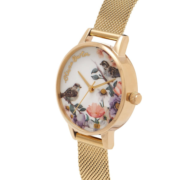 Midi English Garden Gold Mesh Watch