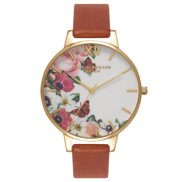 English Garden Tan & Gold Big Dial