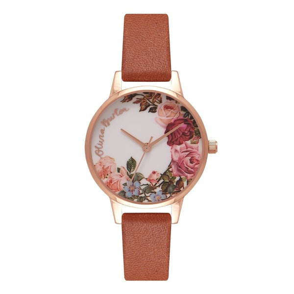 Midi English Garden Tan & Rose Gold