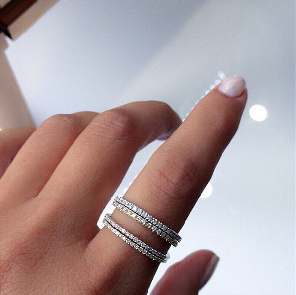 (PRE-ORDER) PETITE DIAMOND ETERNITY RING IN WHITE GOLD
