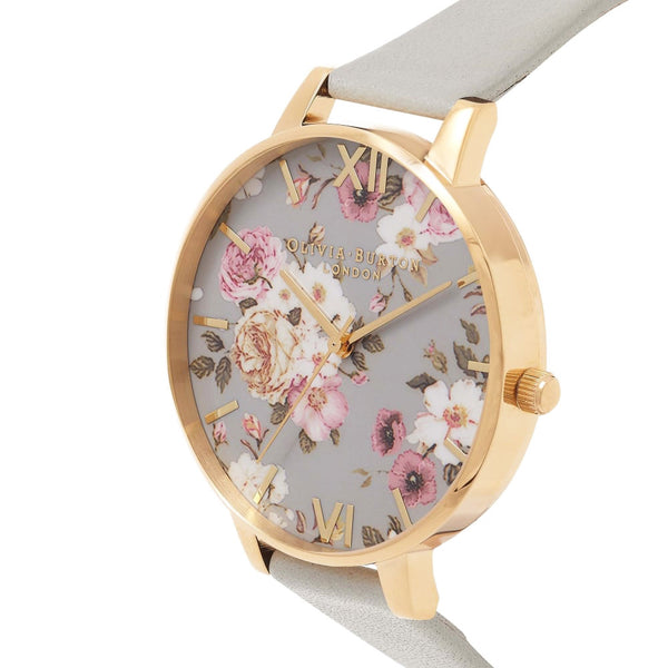 Flower Show Big Dial Grey & Gold