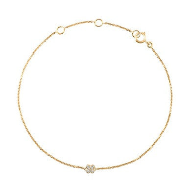 (PRE-ORDER) DIAMOND SNOWFLAKE BRACELET YELLOW GOLD